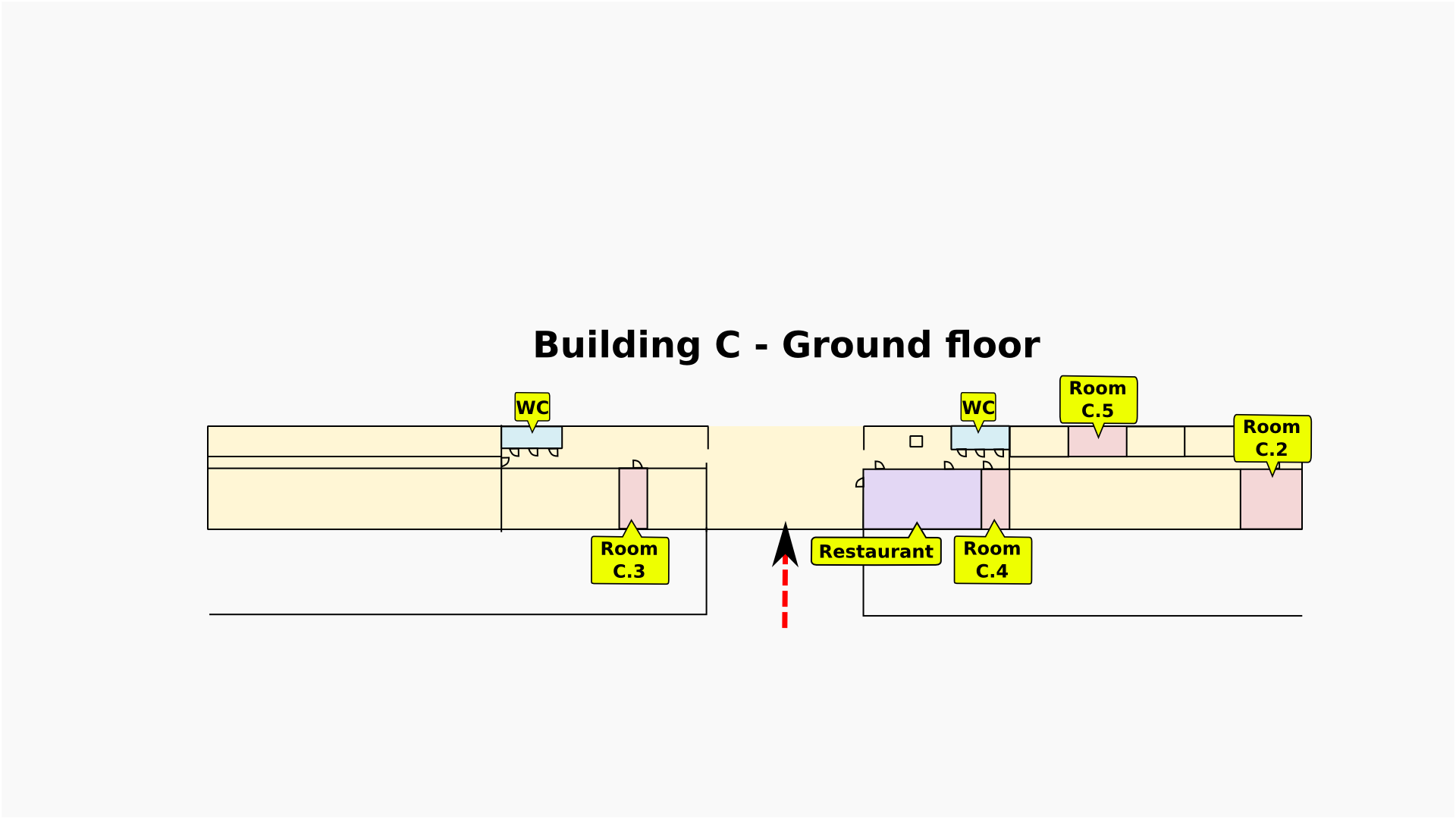 C building, ground floor