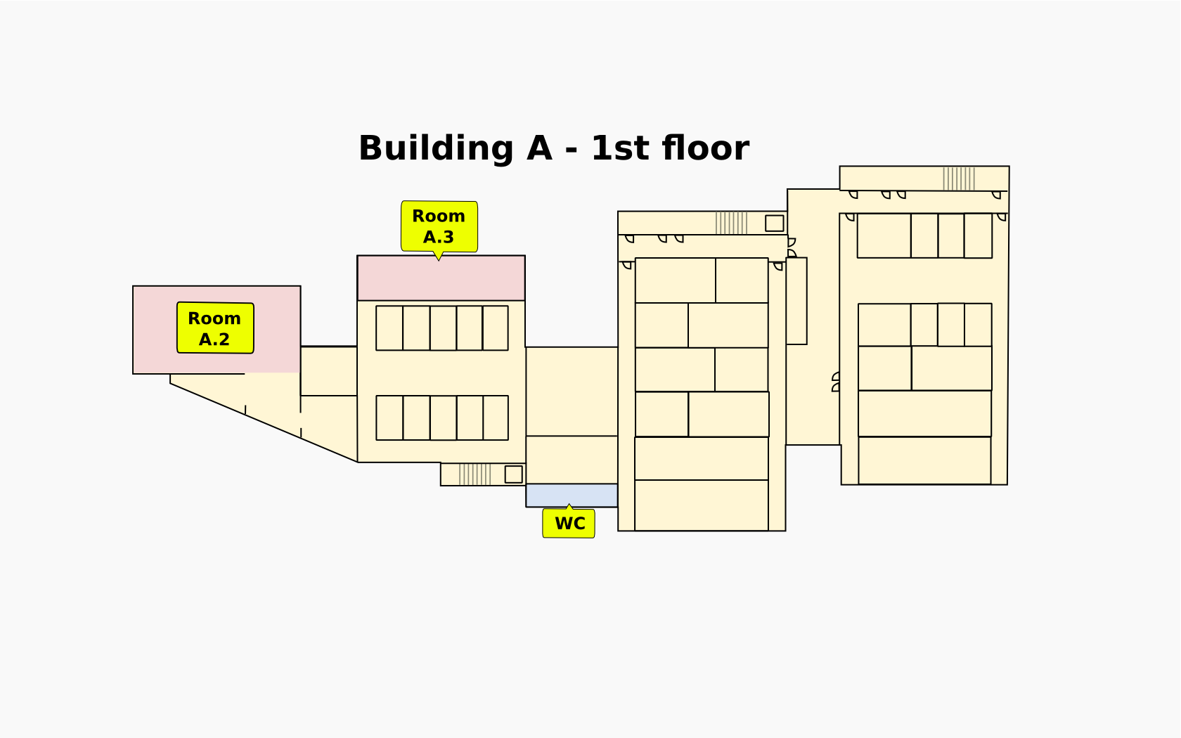 A building, 1st floor
